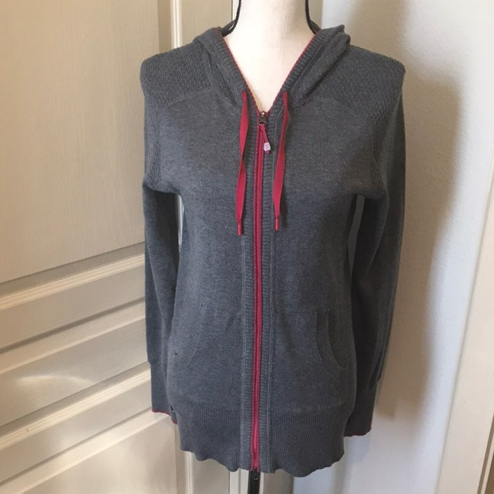 Eddie Bauer Sweater Hoodie -Medium -Gray