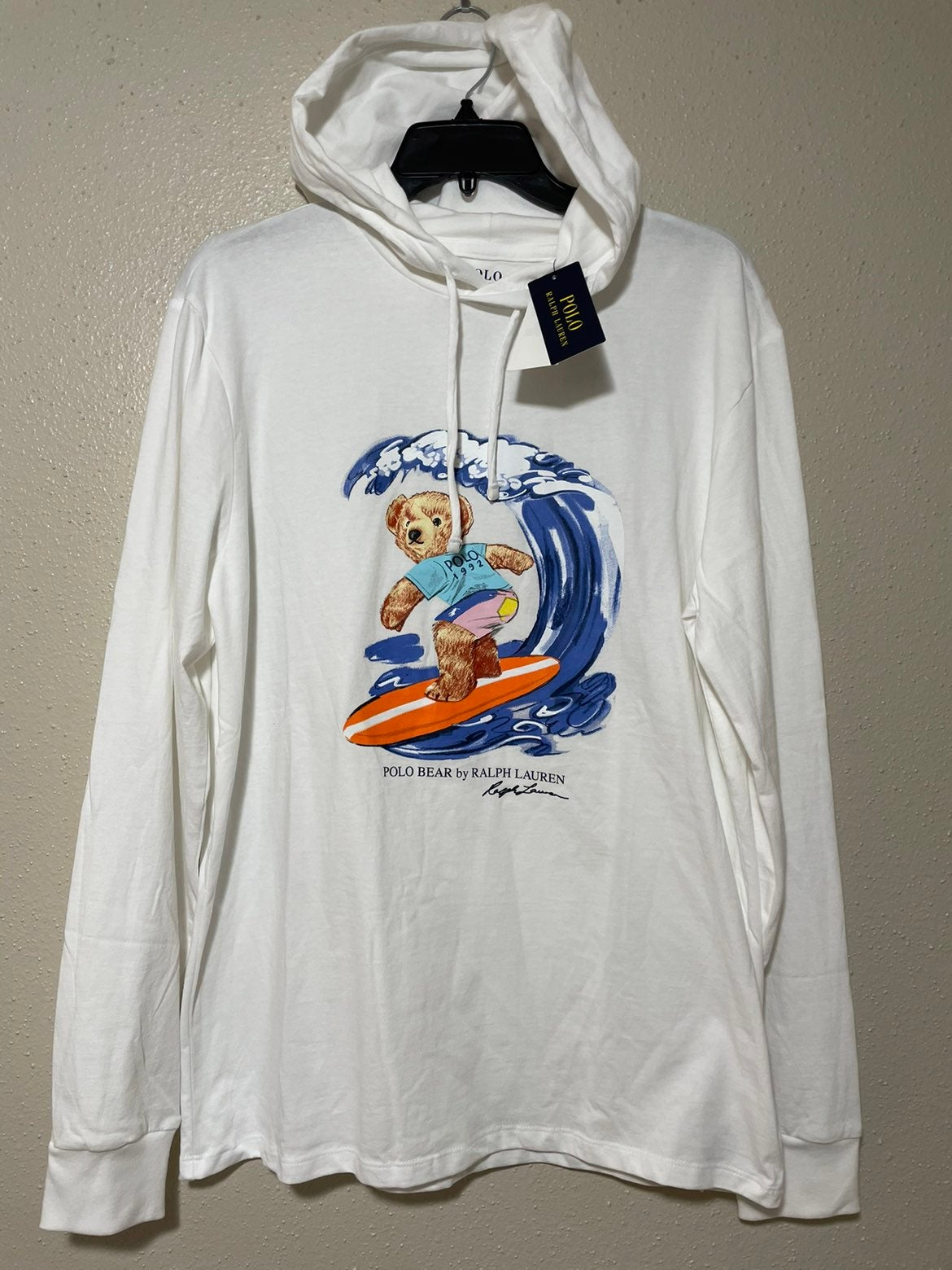 Men's Hoodie Bear Surf sz Medium