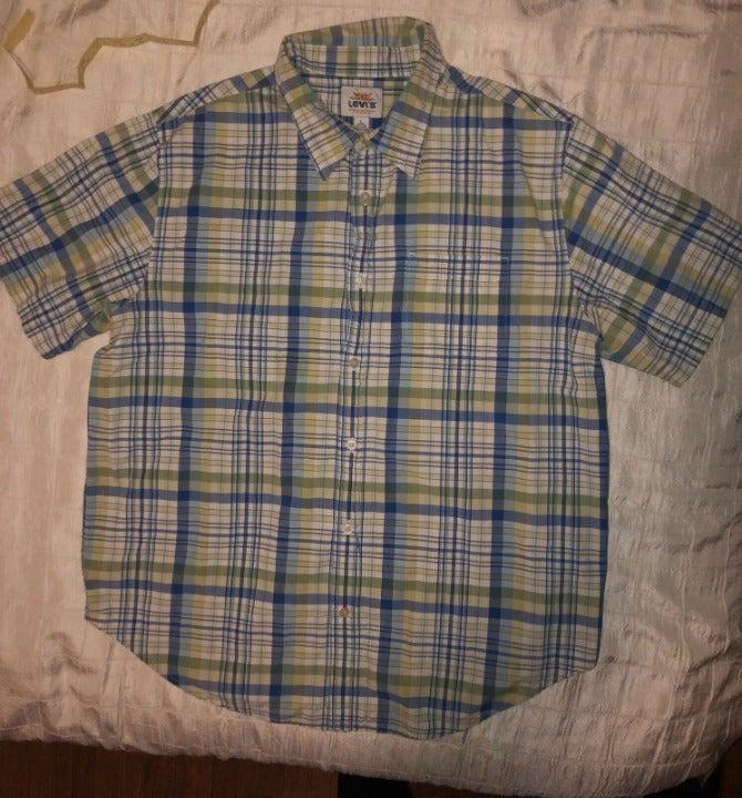 Levis Lined Button Up Shirt L Regular
