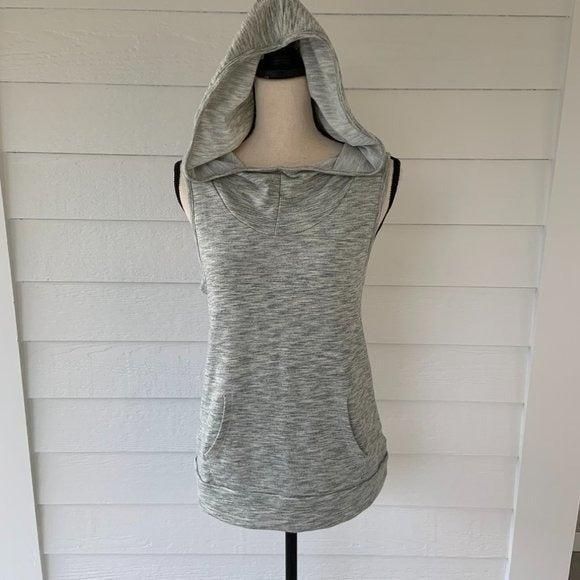 Hooded Sleeveless Sweatshirt Open Back M