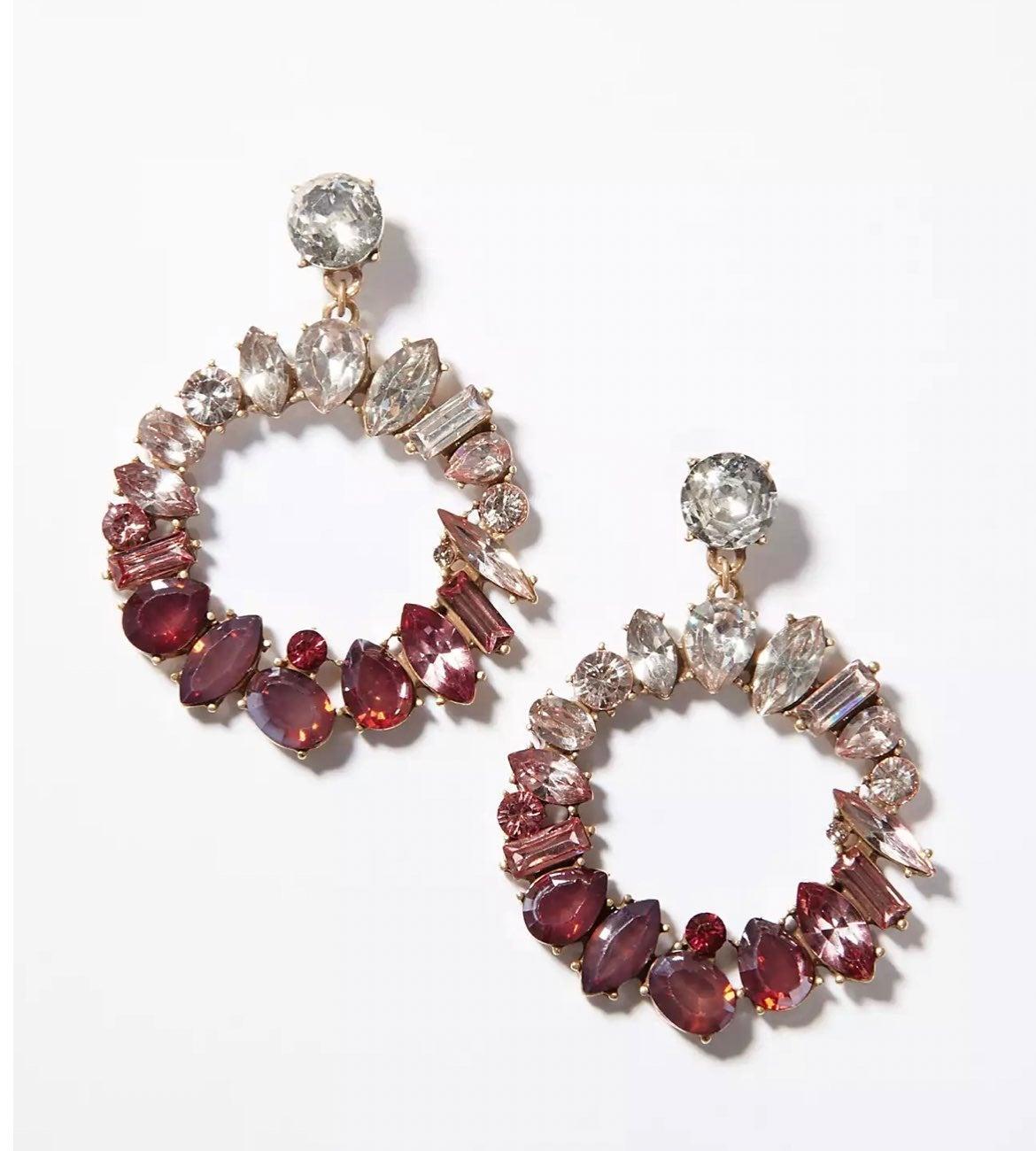 Two Pair NWT LOFT Wreath Earrings