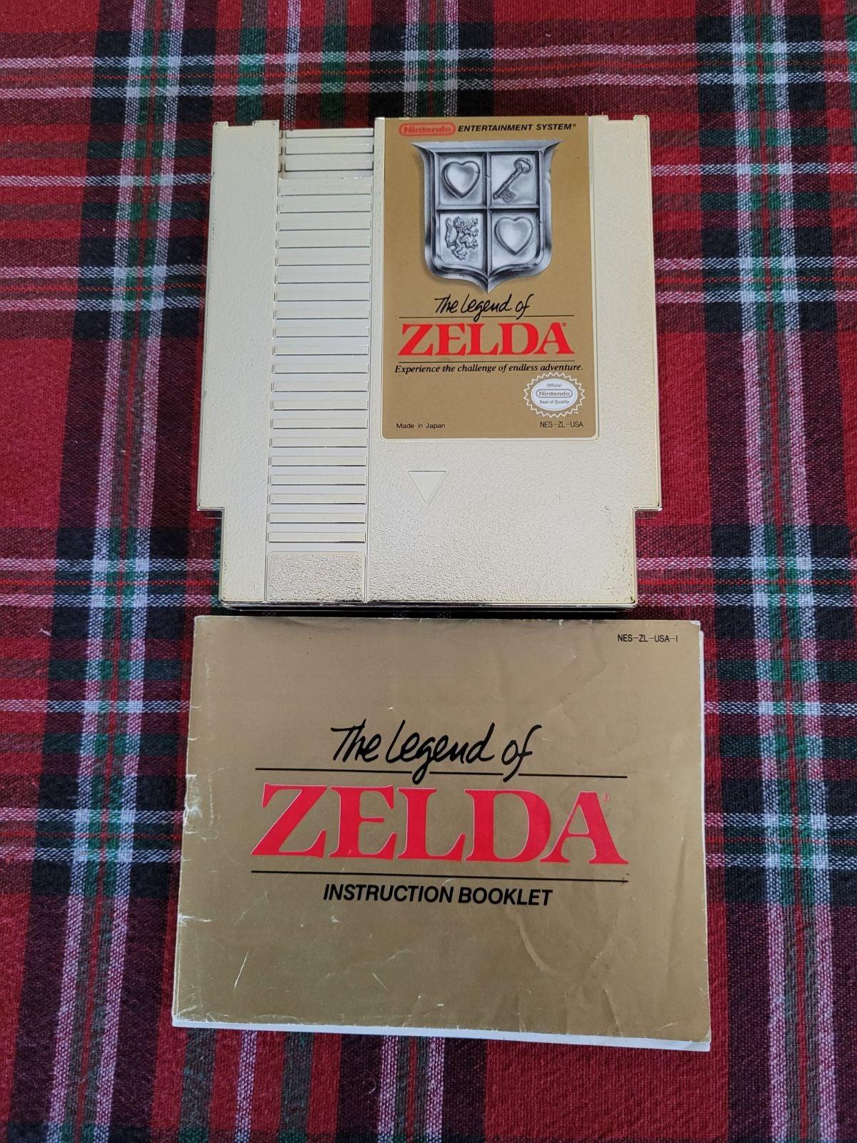The Legend of Zelda NES Game Cartridge