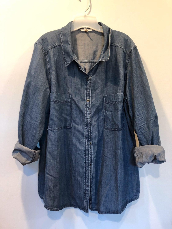 Eileen fisher denim shirt