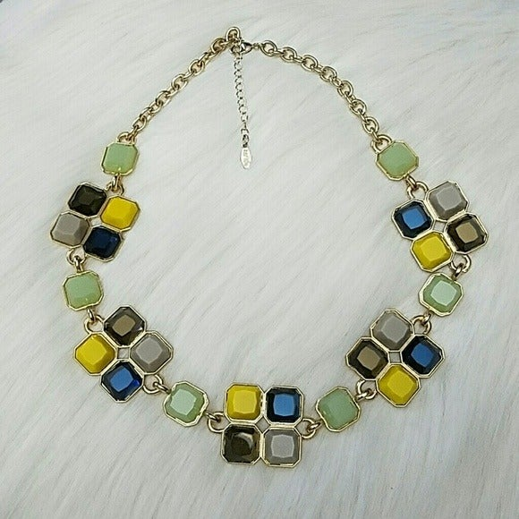 New Kensie Multi Stone Gold Necklace