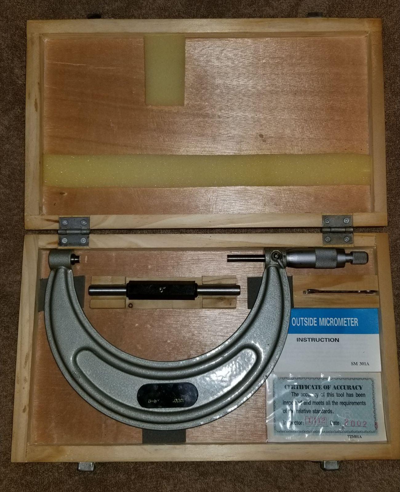 """5""""-6"""" .0001 Precision Outside Micrometer"""