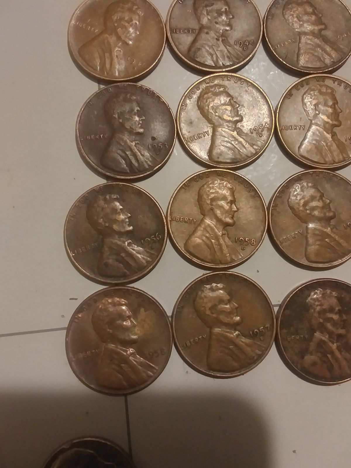 Lot of wheat pennies some errors
