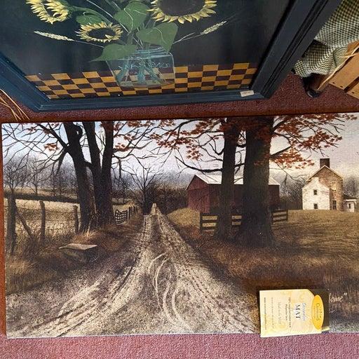 Primitive country Rug doormat welcome
