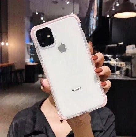 iPhone 11 Pro Case Clear Glitter Pink 2