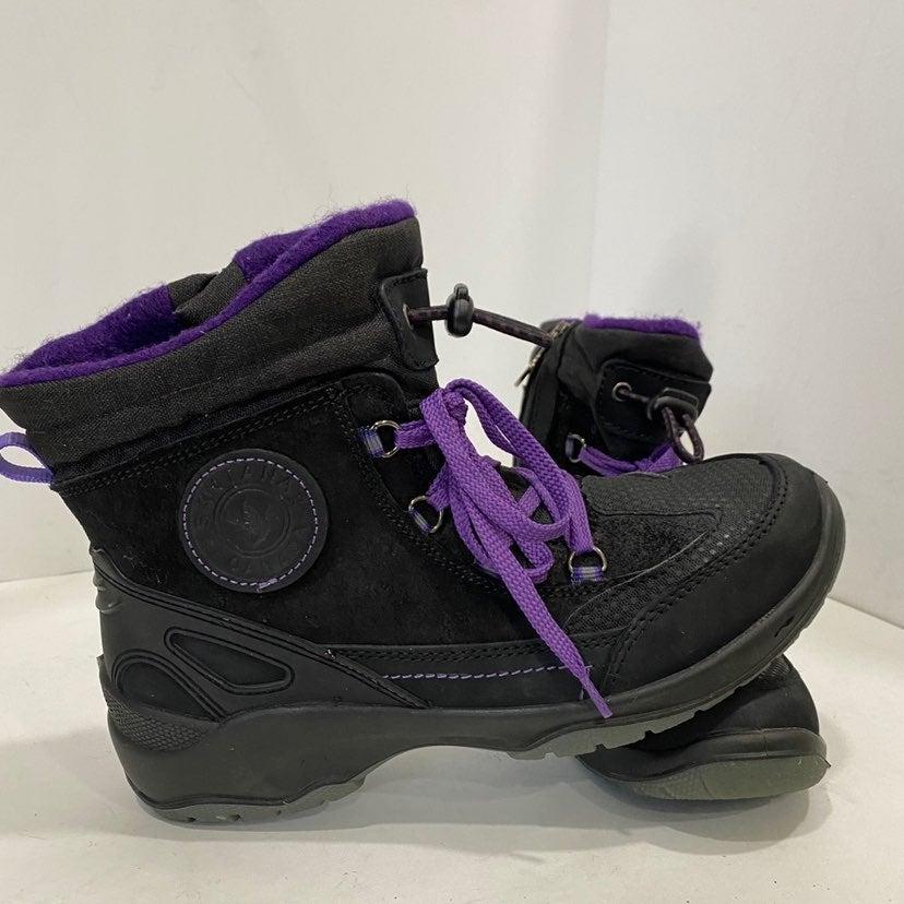 Santana black & purple leather boot