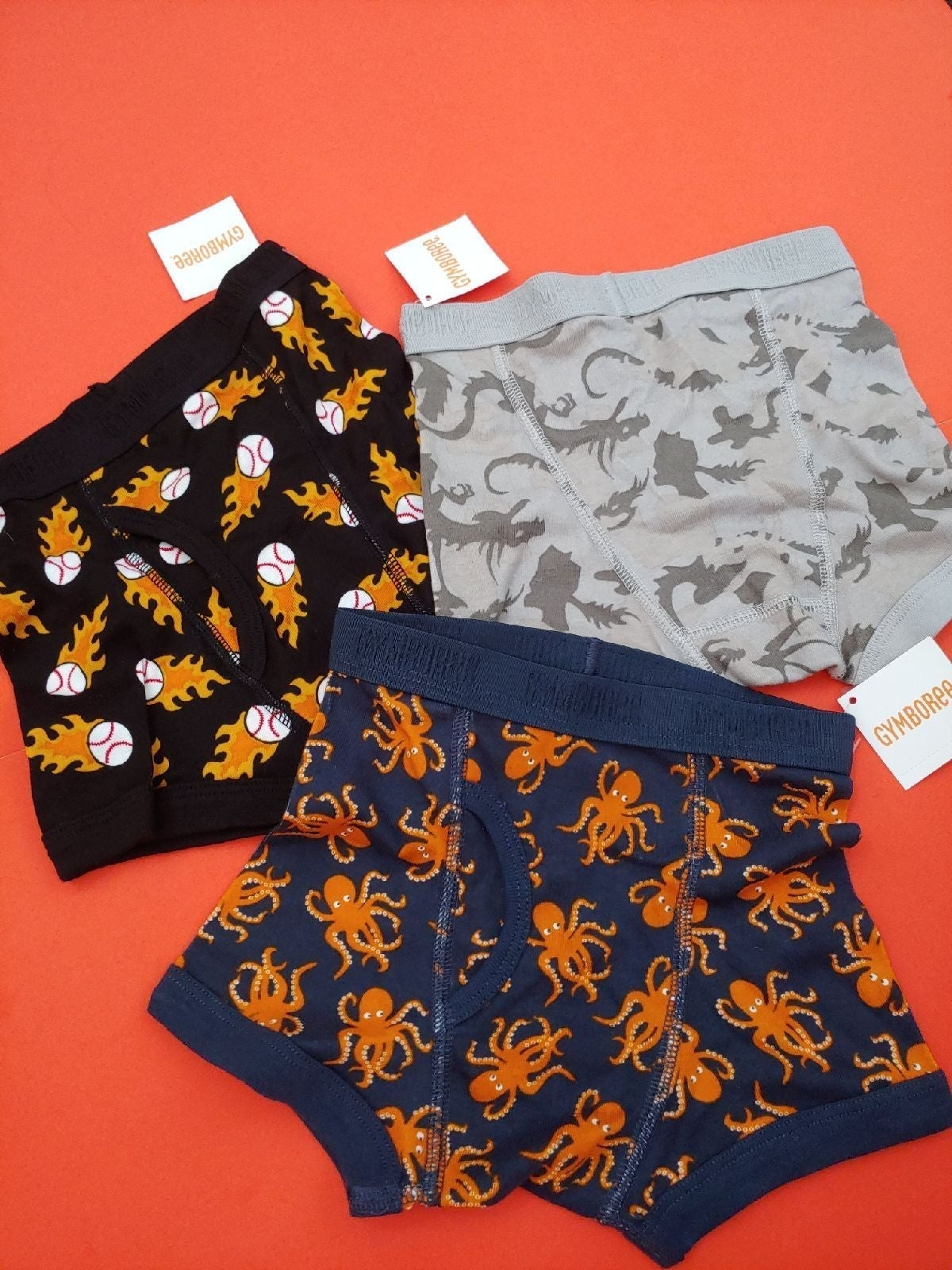New Gymboree lot 3 boxers XS 3-4