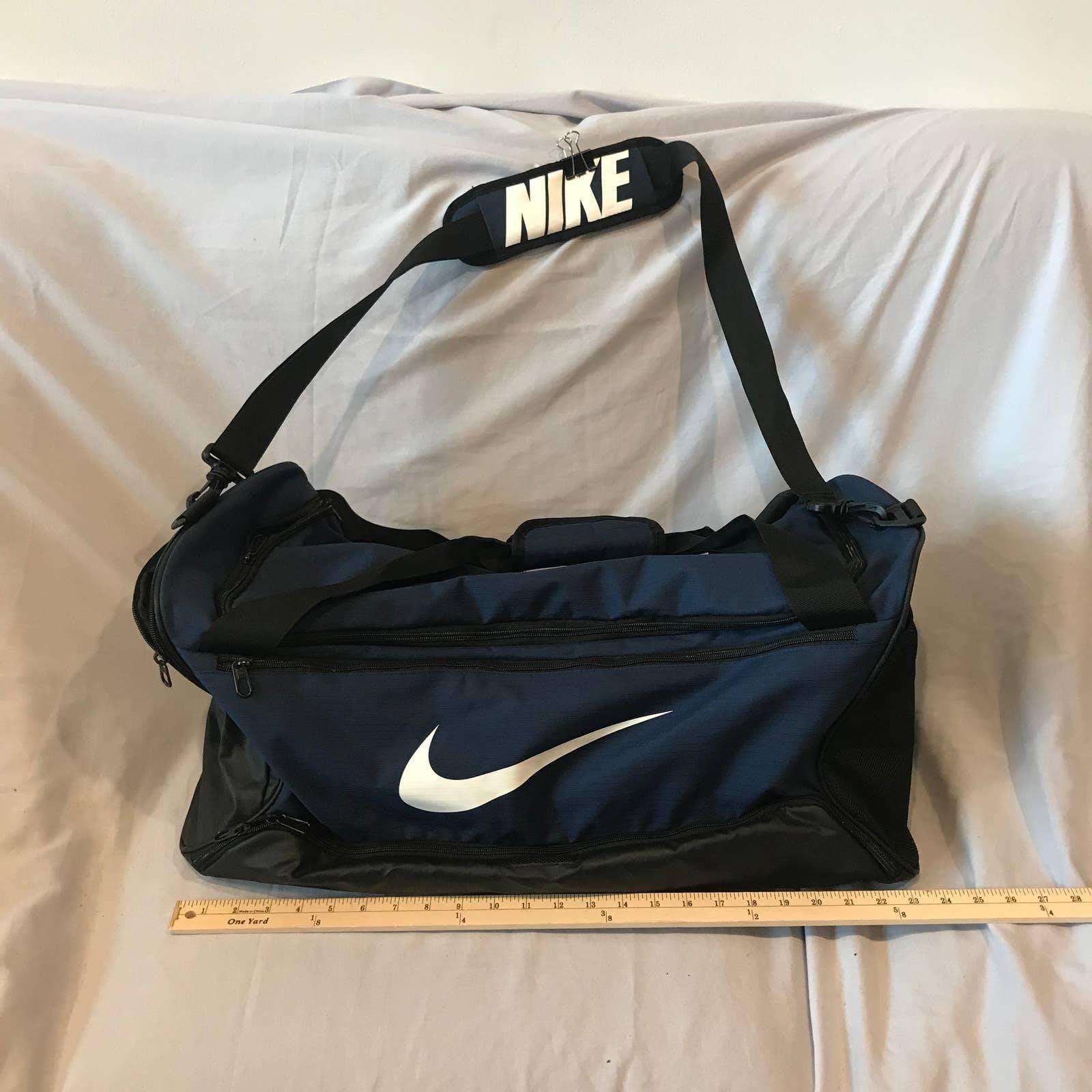 Nike Duffel Bag, Navy Blue 002