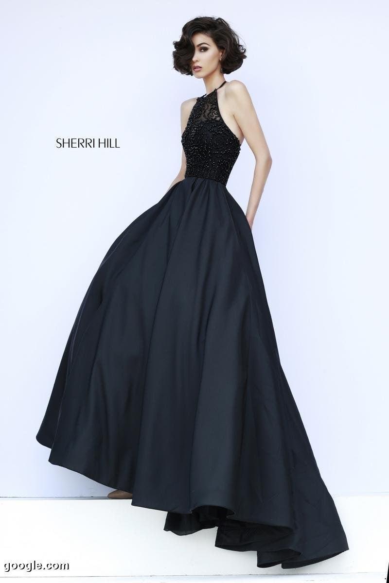 Sherri Hill Black Prom Dress