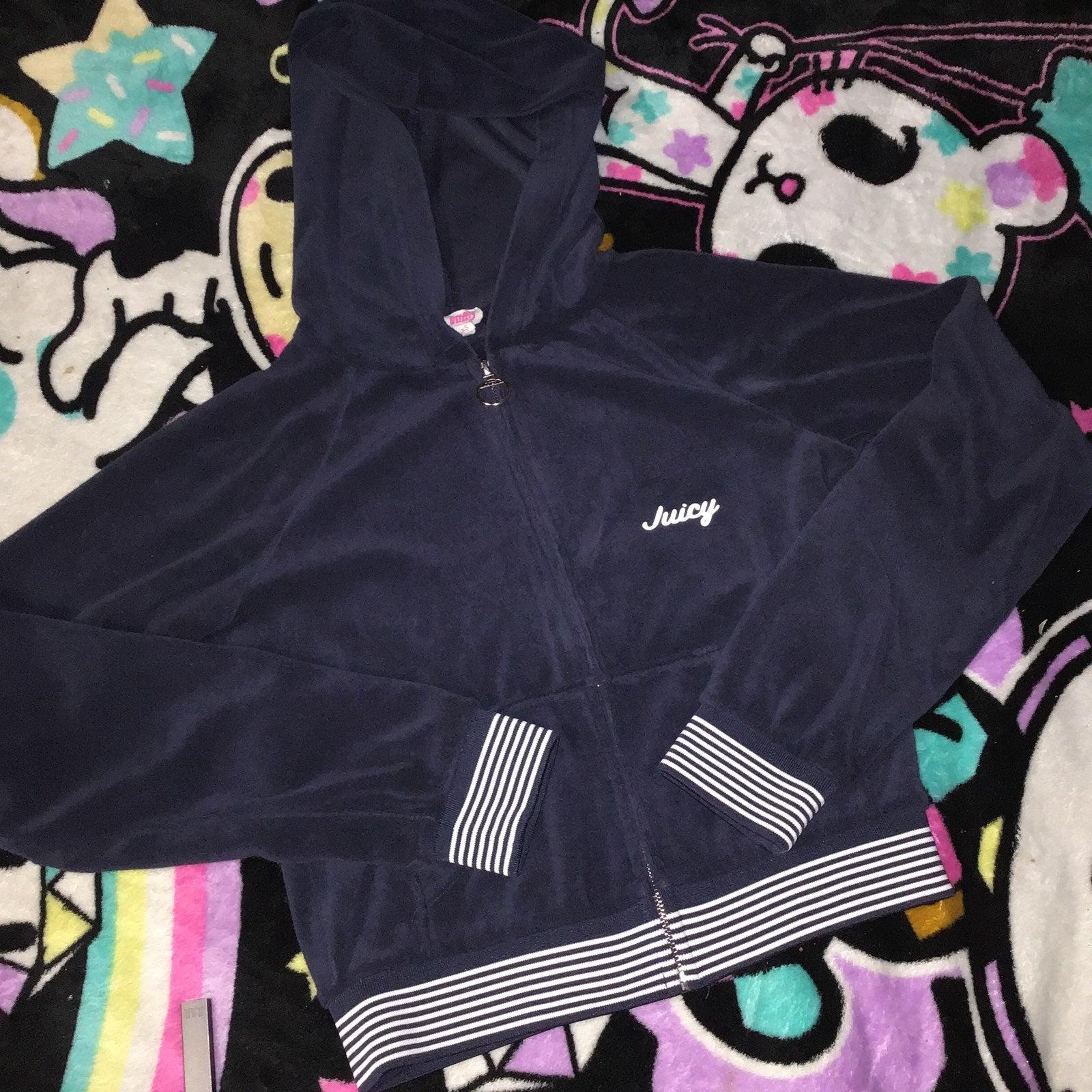 Juicy couture black velour hoodie