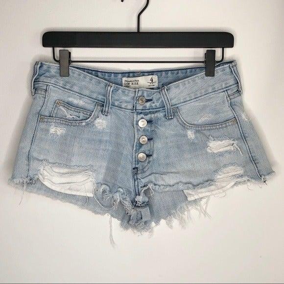 Abercrombie 4 Low Rise Short Shorts Dist