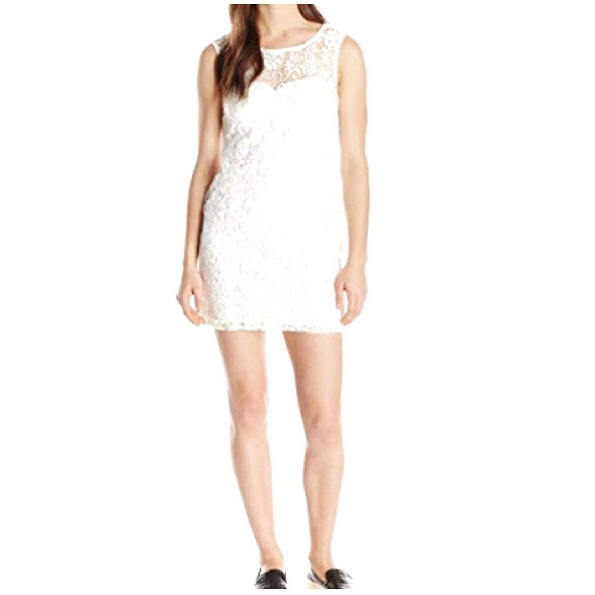 Macys As U Wish White Lace Midi Dress