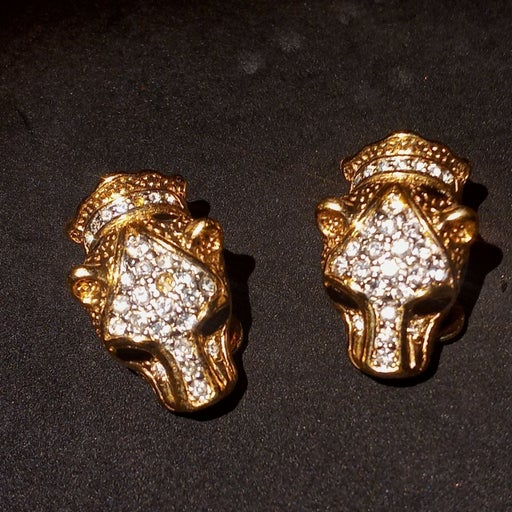 Vintage Attwood & Sawyer jaguar earrings