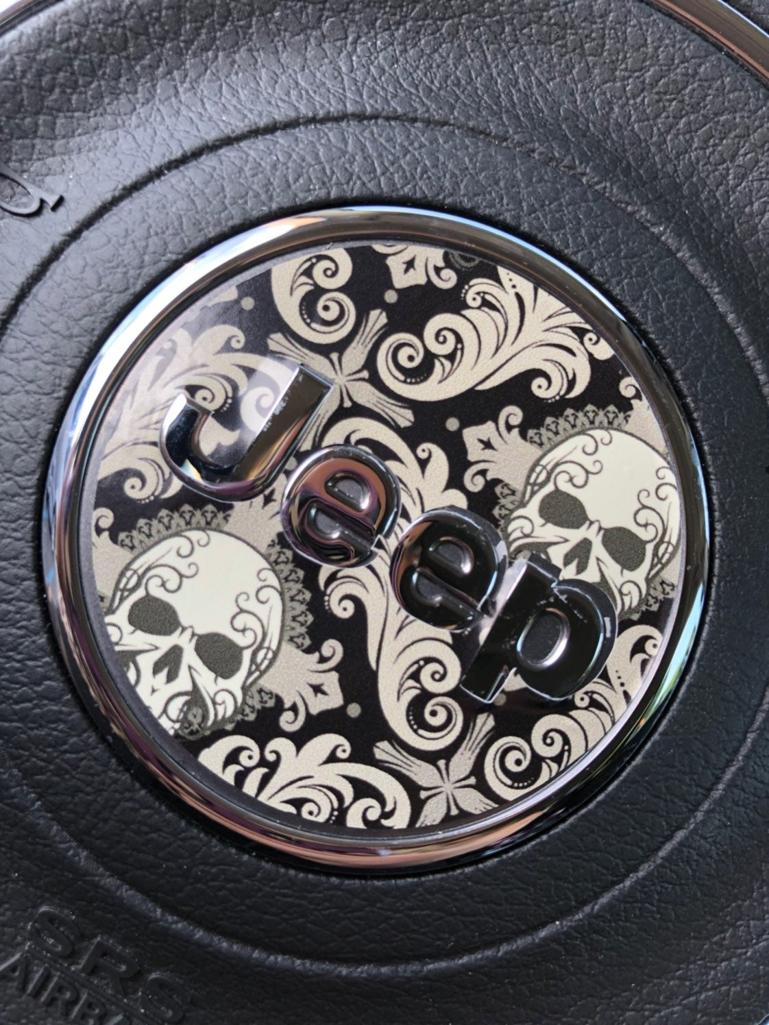 Gothic Skull Jeep Renegade Wheel Decal
