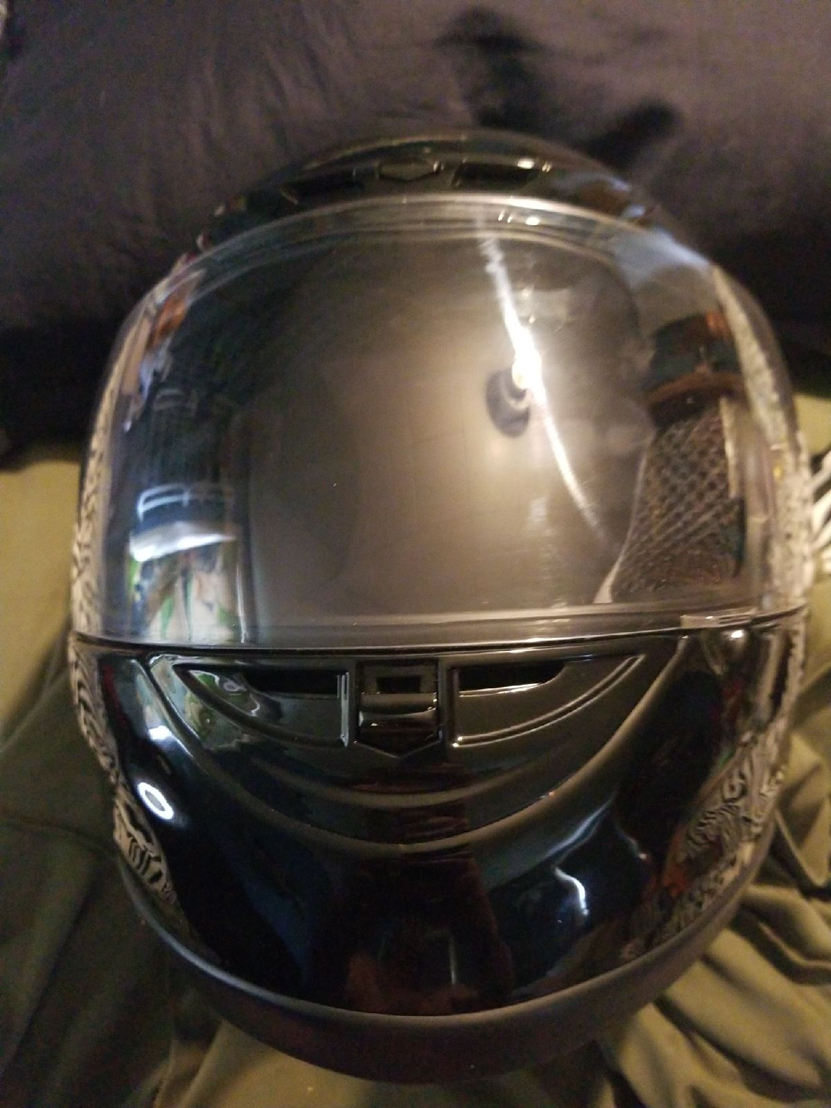 Fuel all black motorcycle helmet with cl