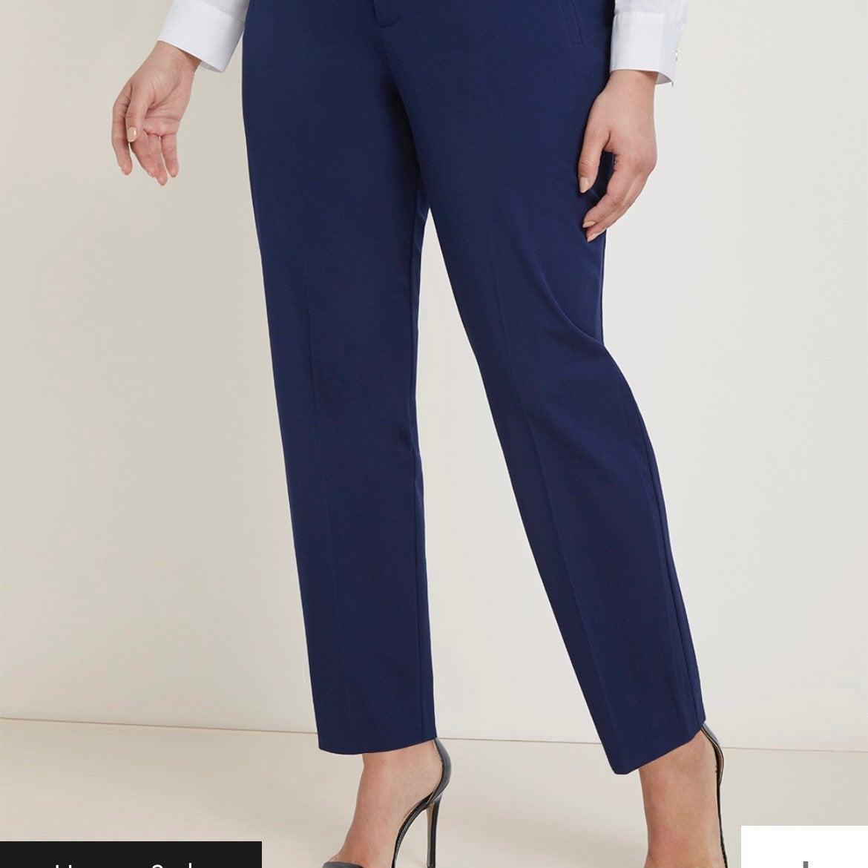 Eloquii Premier Bi-Stretch navy Pants 22