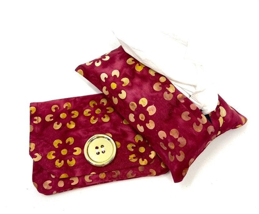 Magenta Floral Fabric Card Holder/Tissue