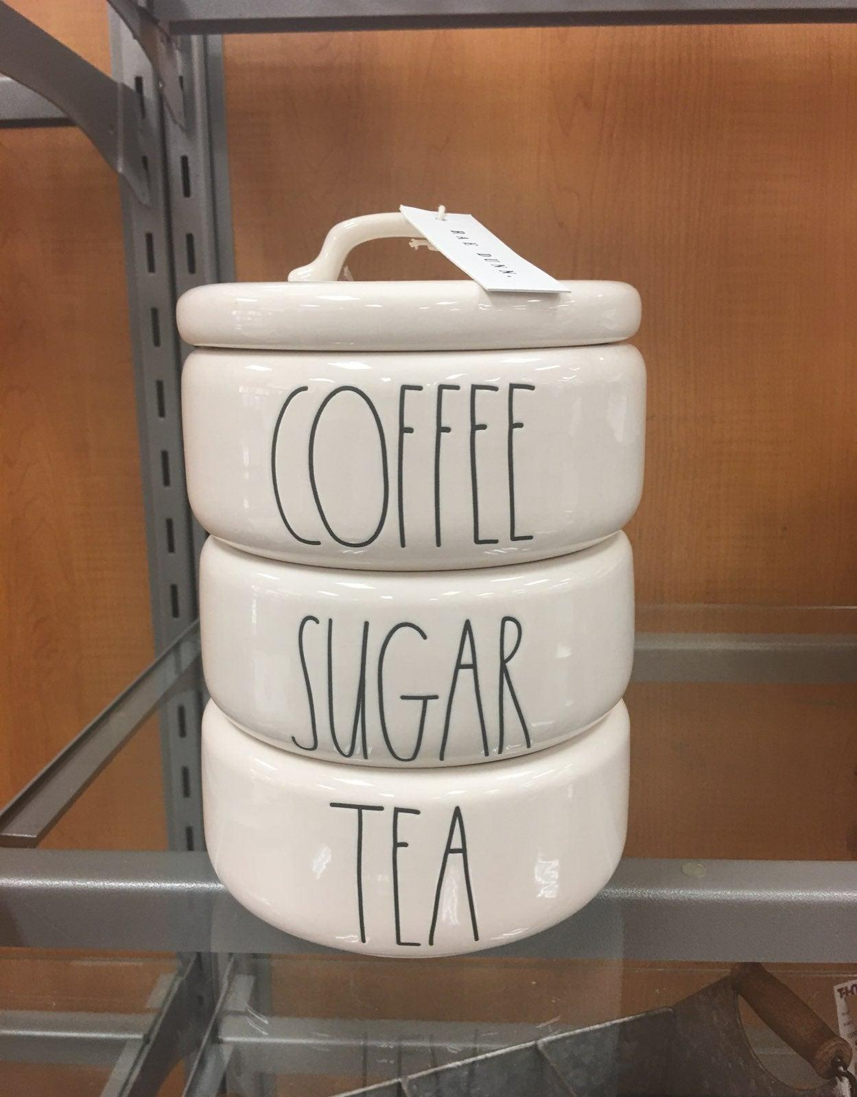 Rae dunn coffee sugar tea canister