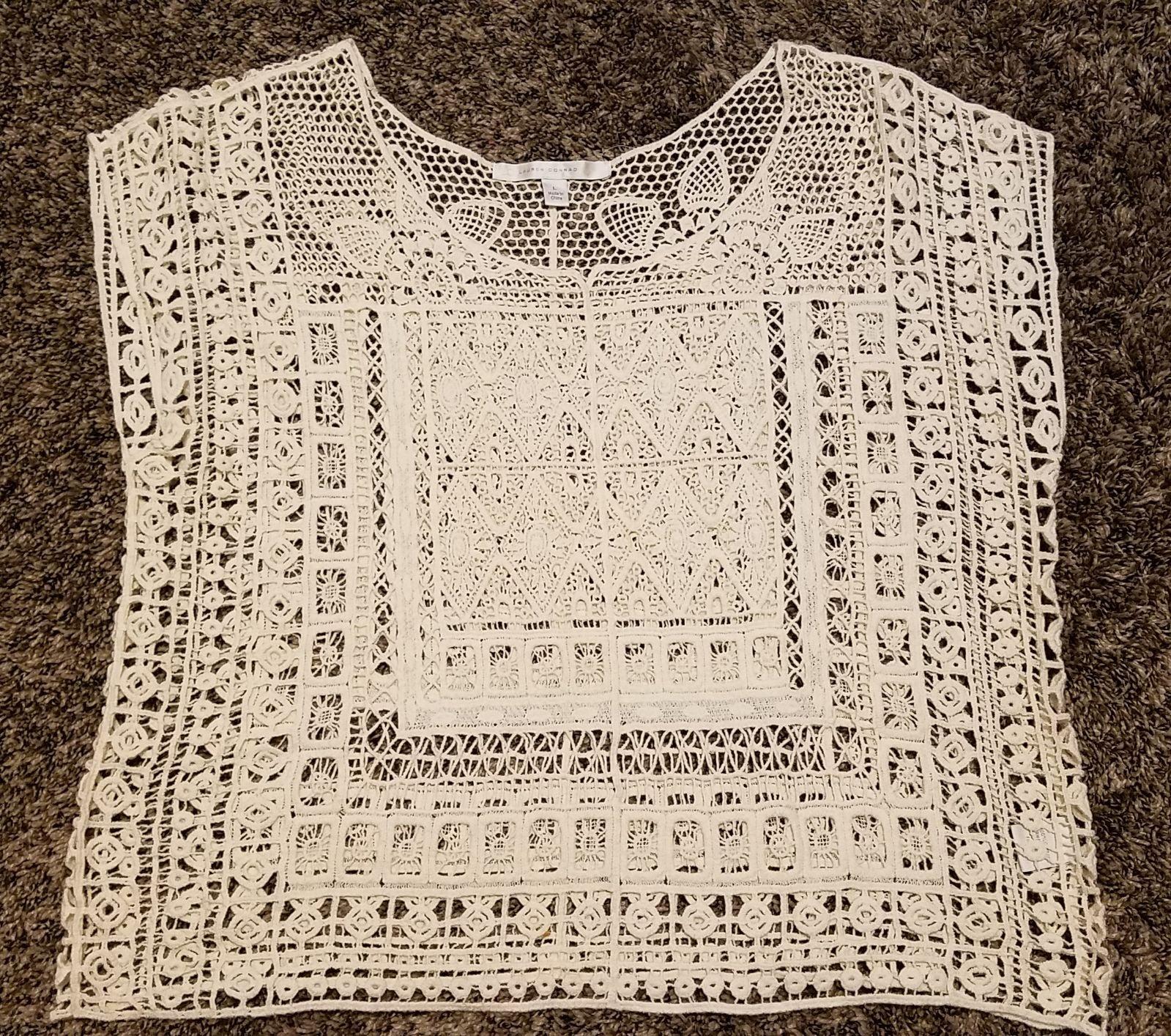 Cream crochet blouse