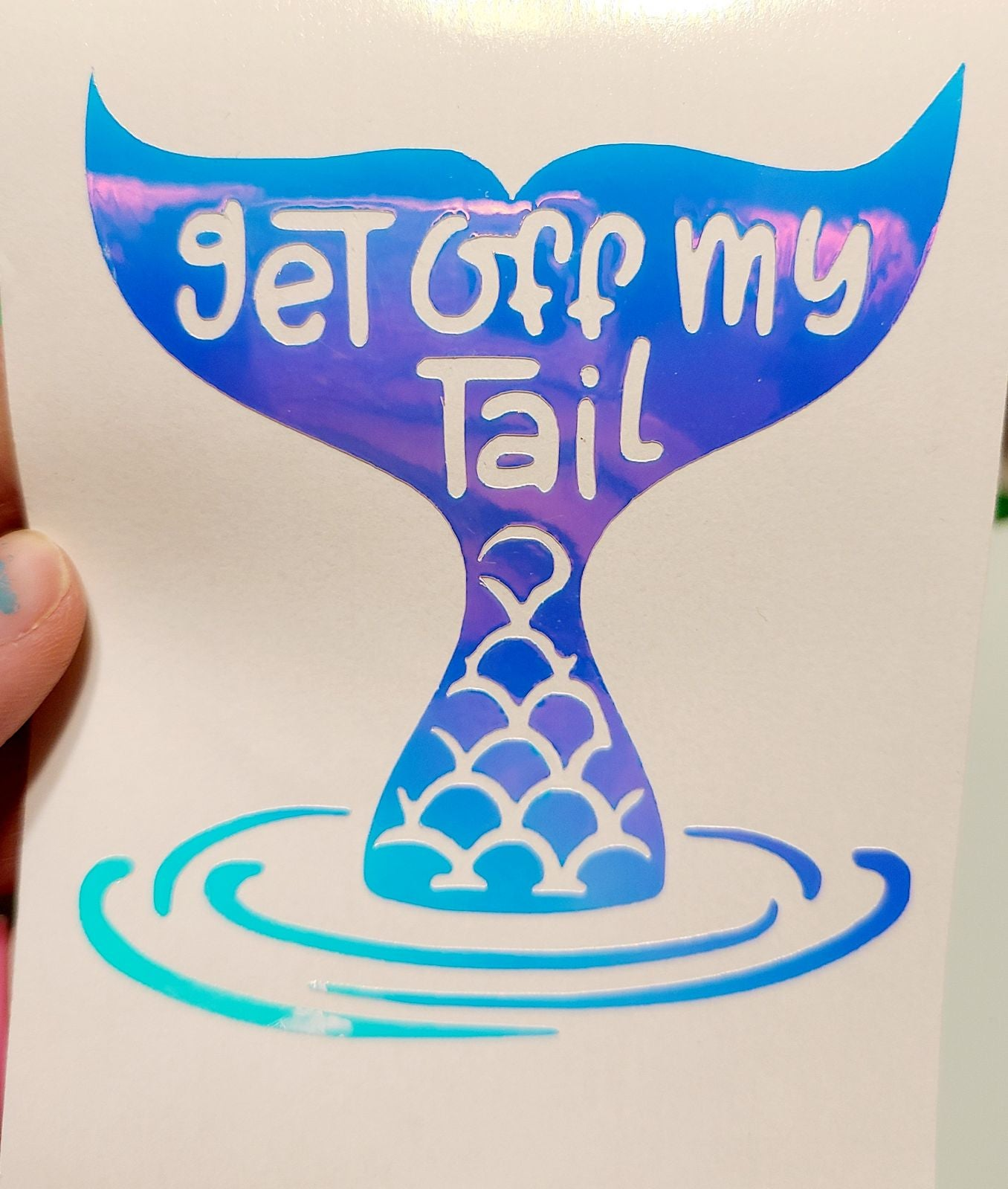 Get off my tail car decal mermaid