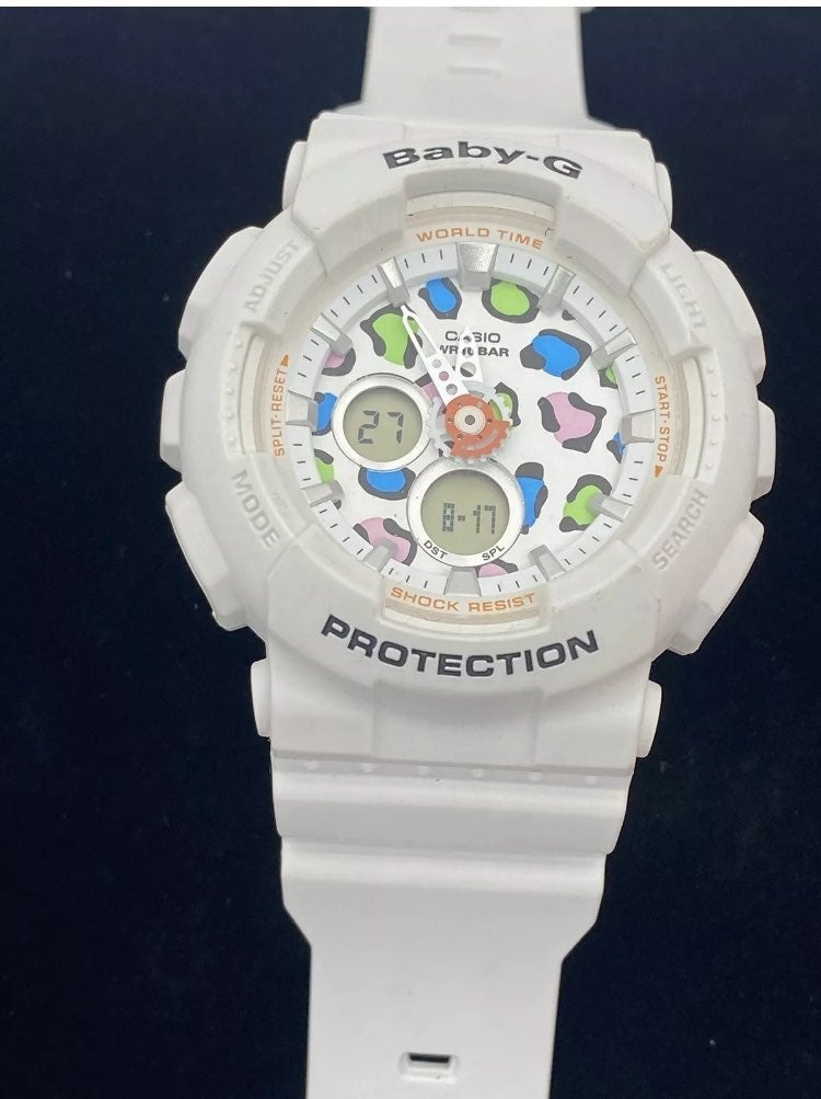 Casio Baby-G Watch White Band Colorful