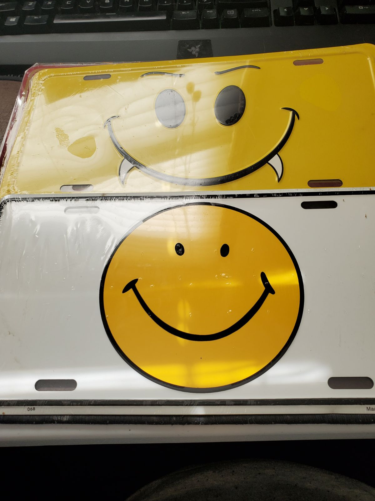 Smiley Face License Plates