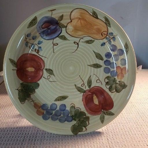 Gibson Elite Fruit Plate Stoneware