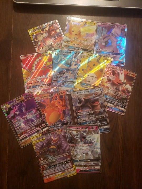 Pokemon TCG all GX lot of 15 w/ Tag Team