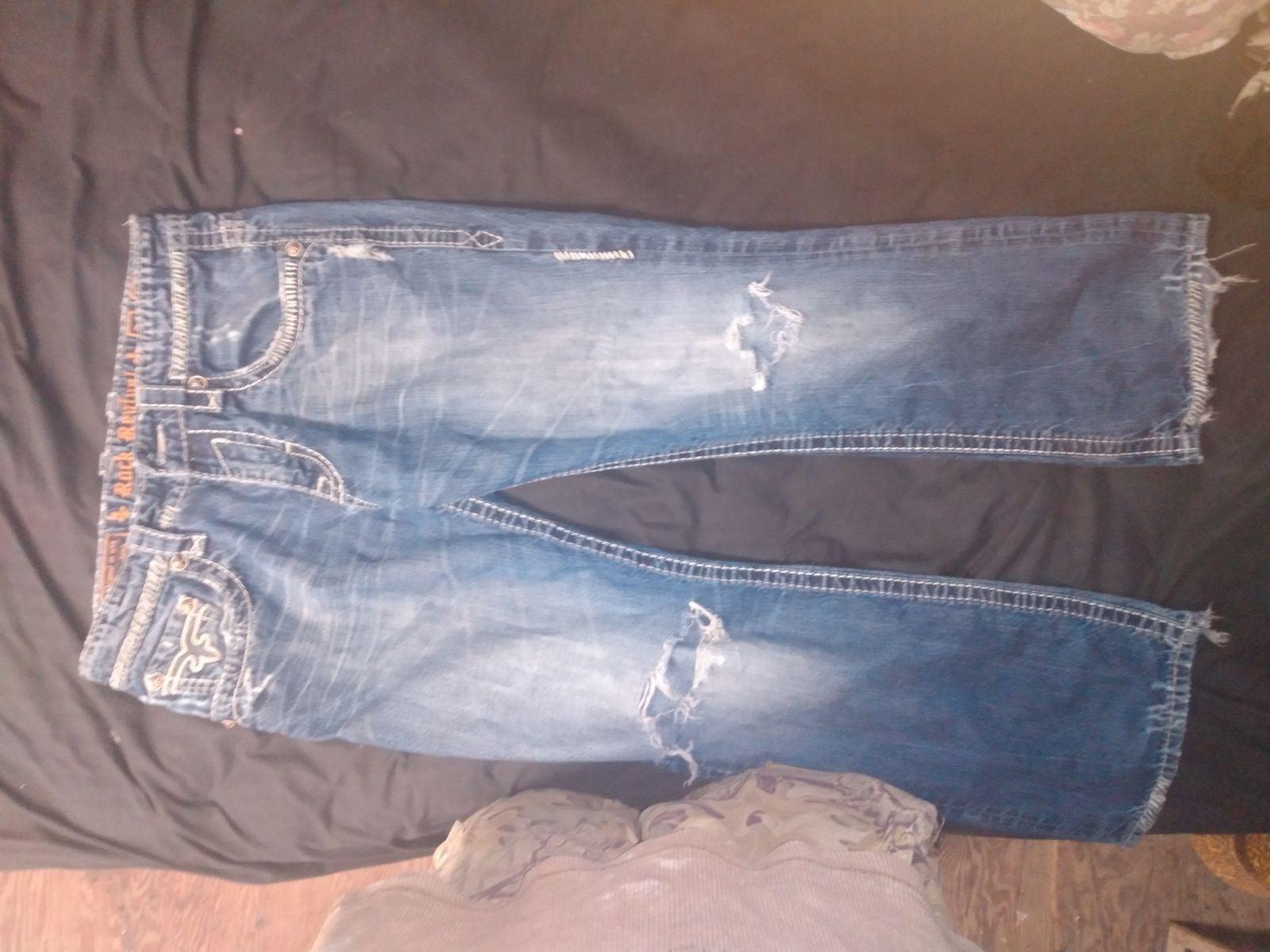 jeans men Rock revival size 34x32