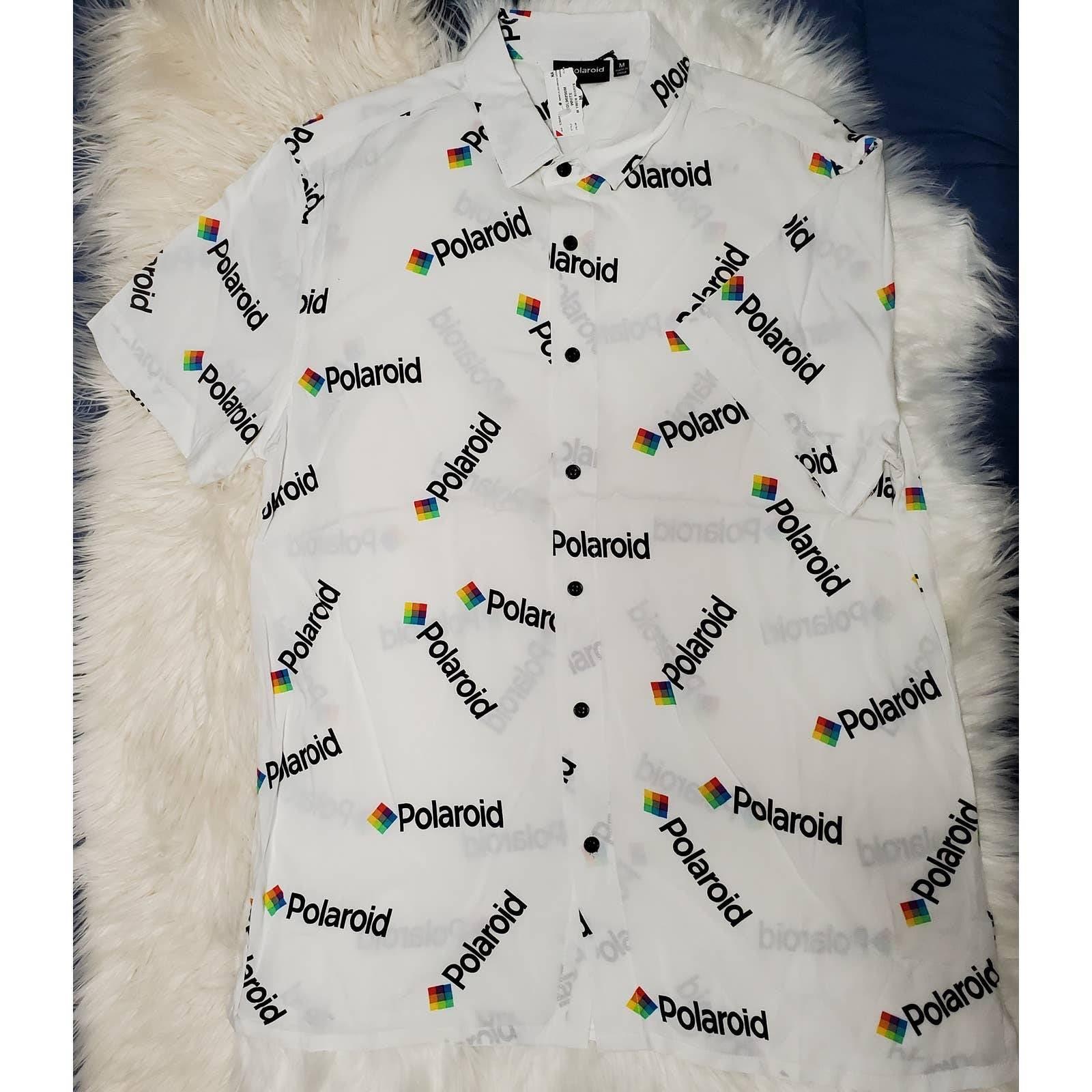 Retro Polaroid Button Down Shirt NWT