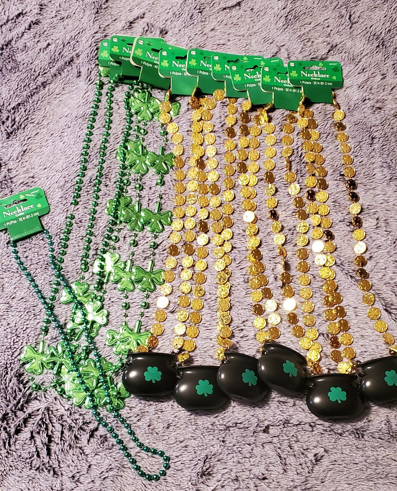 st patricks day bead necklaces