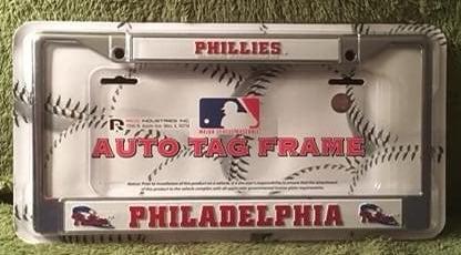 Phillies Metal License Plate Frame (NIP)