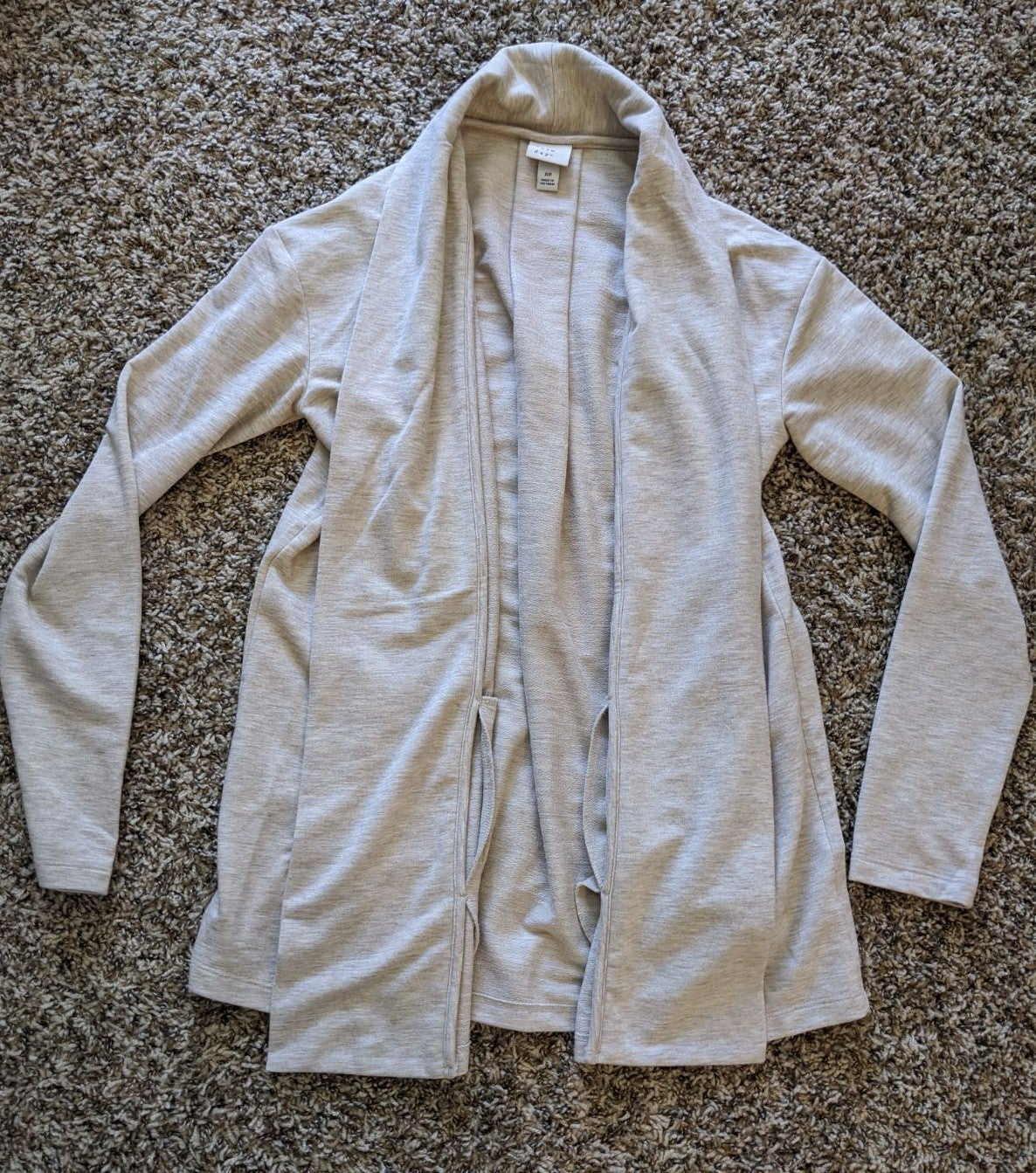 A New Day Beige Open-Front Sweater