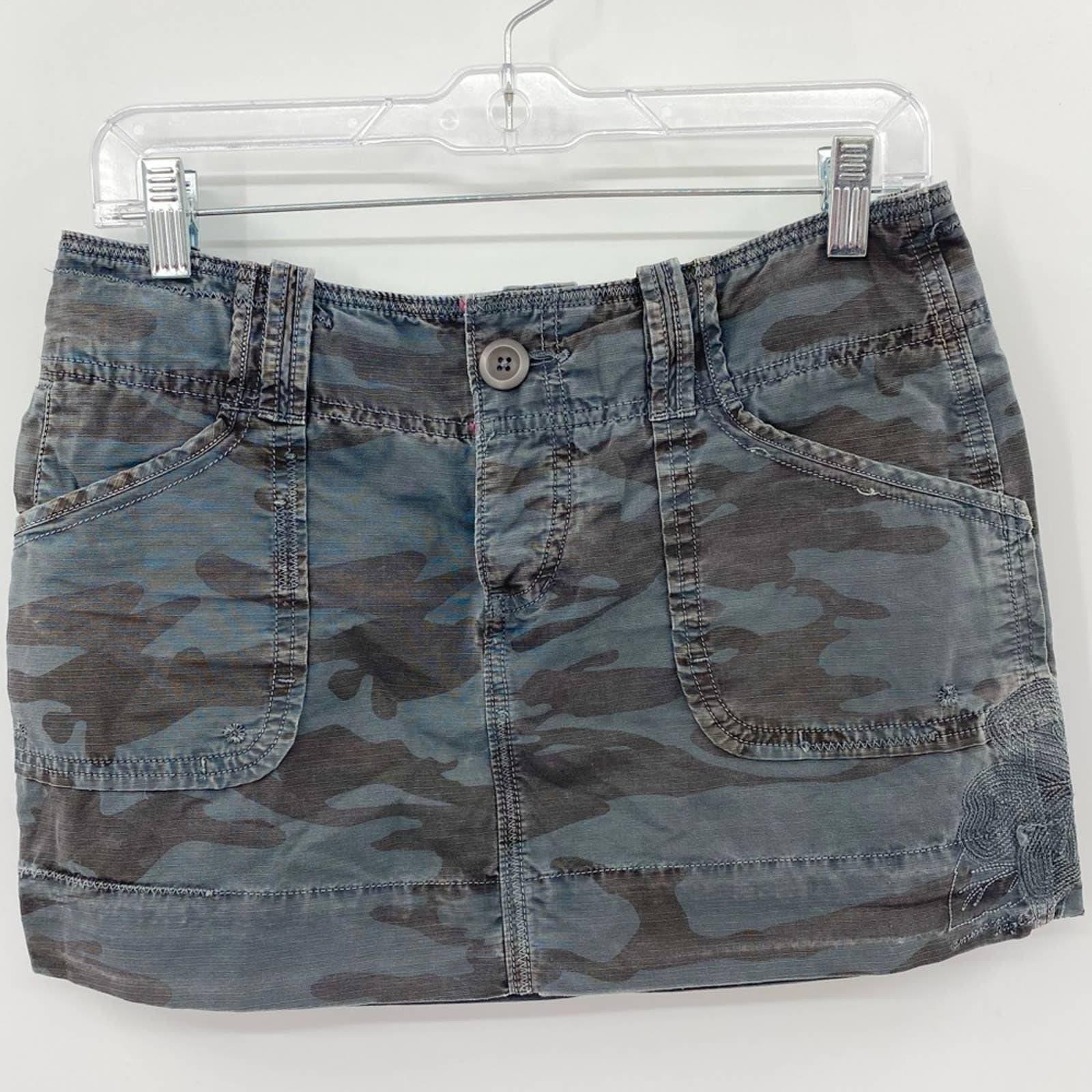 AEO Vintage 1997 Camouflage Jean Skirt