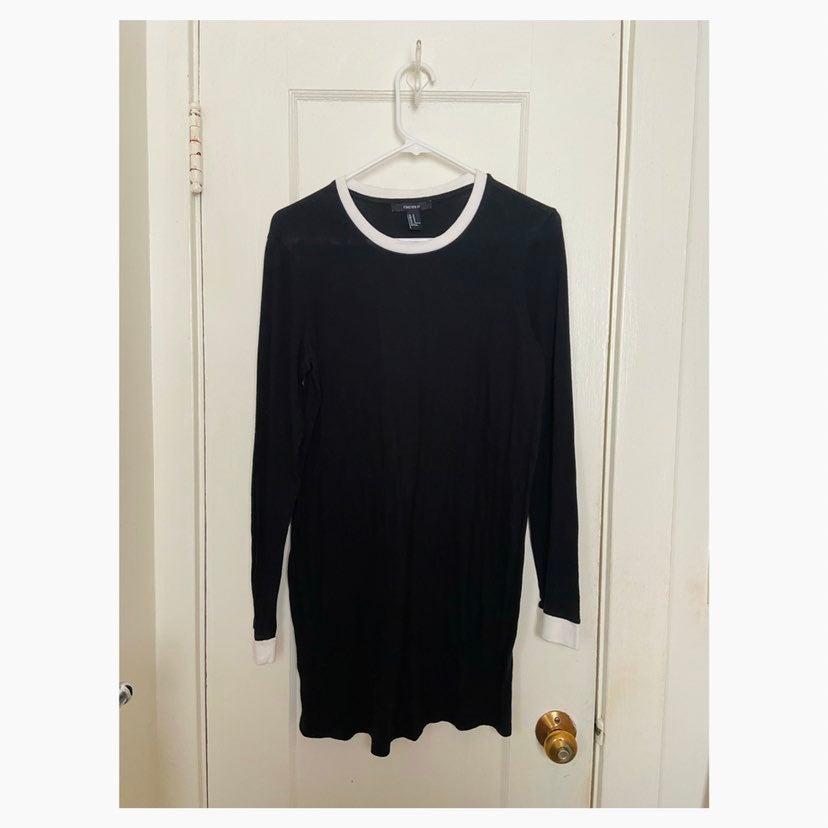 Black Long-Sleeve Shirt Dress