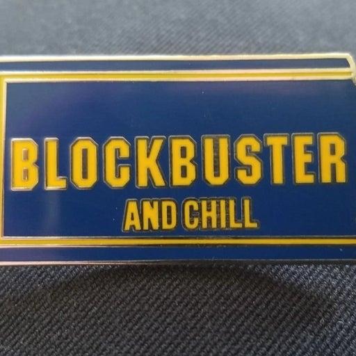 Blockbuster and Chill enamel pin
