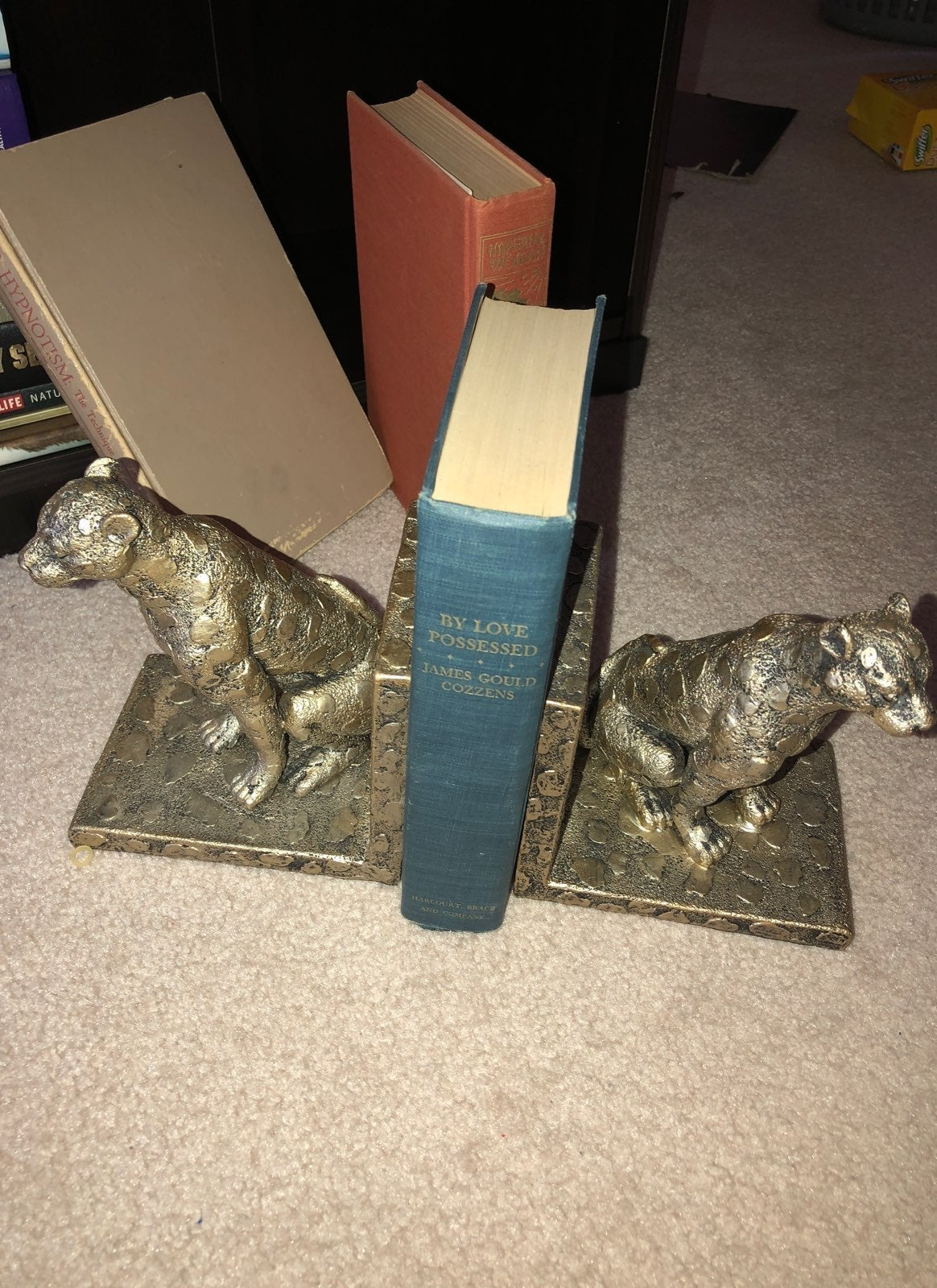 2 Gold Cheetah Book Stand Weights