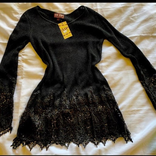 Cowgirl Up Black Tunic
