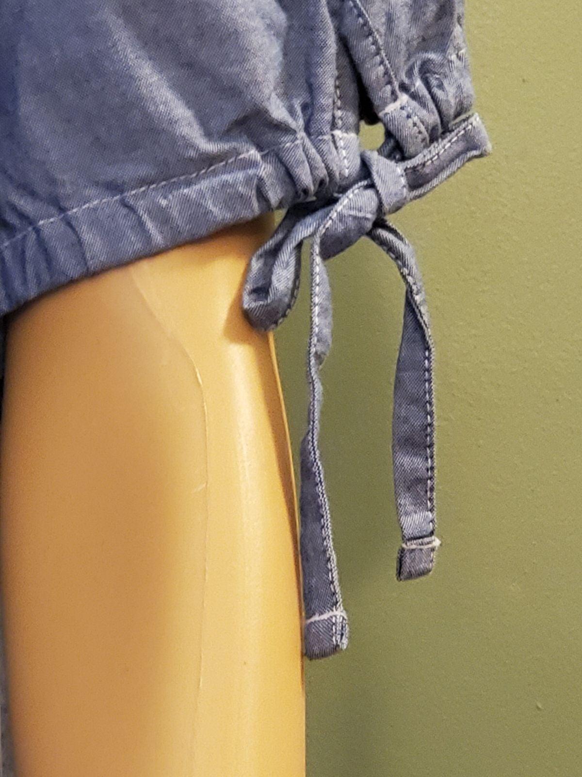 Karen Scott Womens denim shirt
