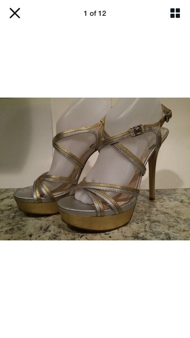 Michael kors cicely Sandals silver gold