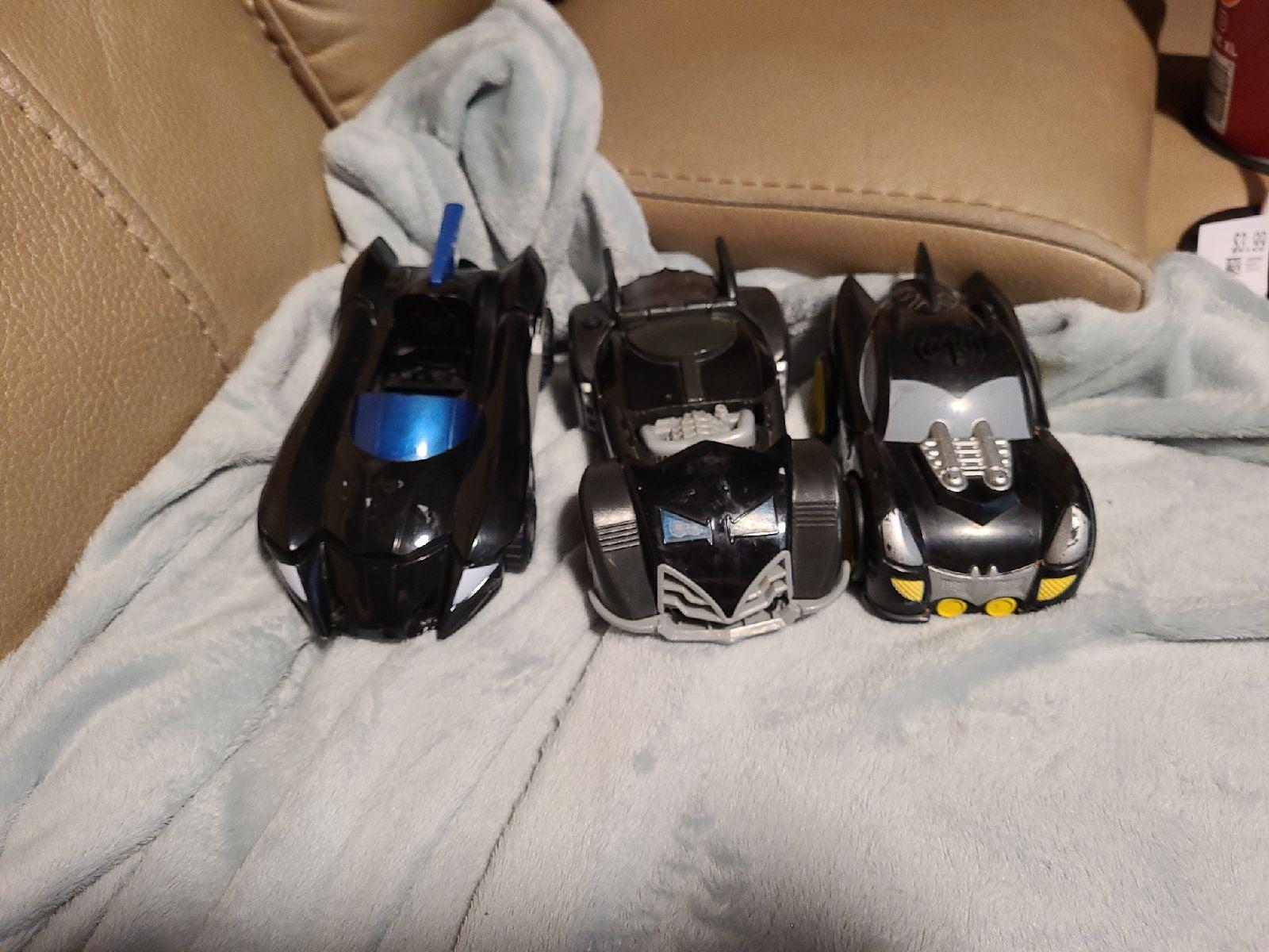 Batman Batmobile Cars Lot of 3