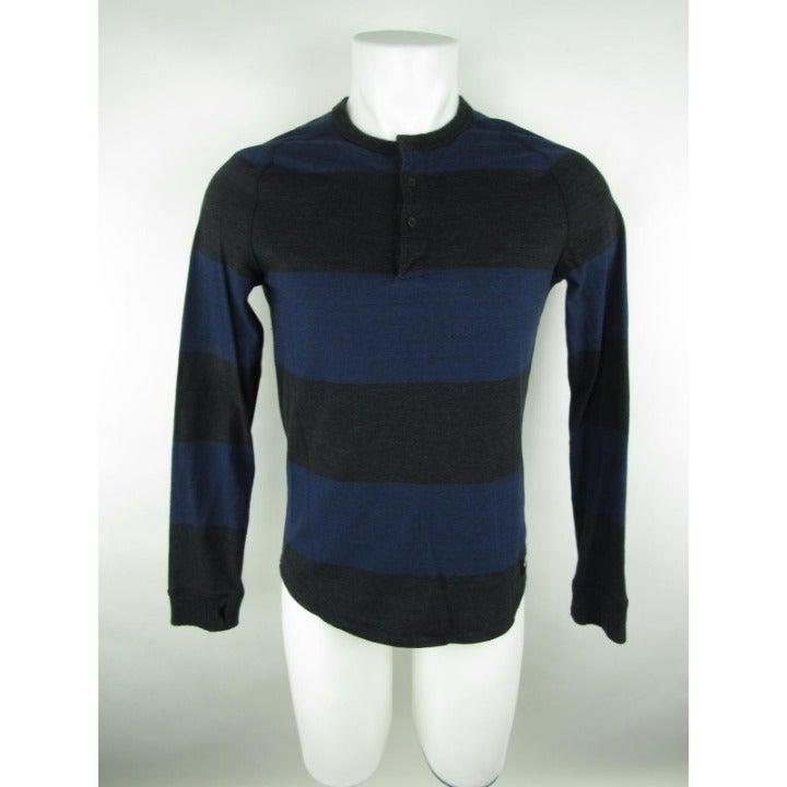 David Beckham Striped  Henley Shirt