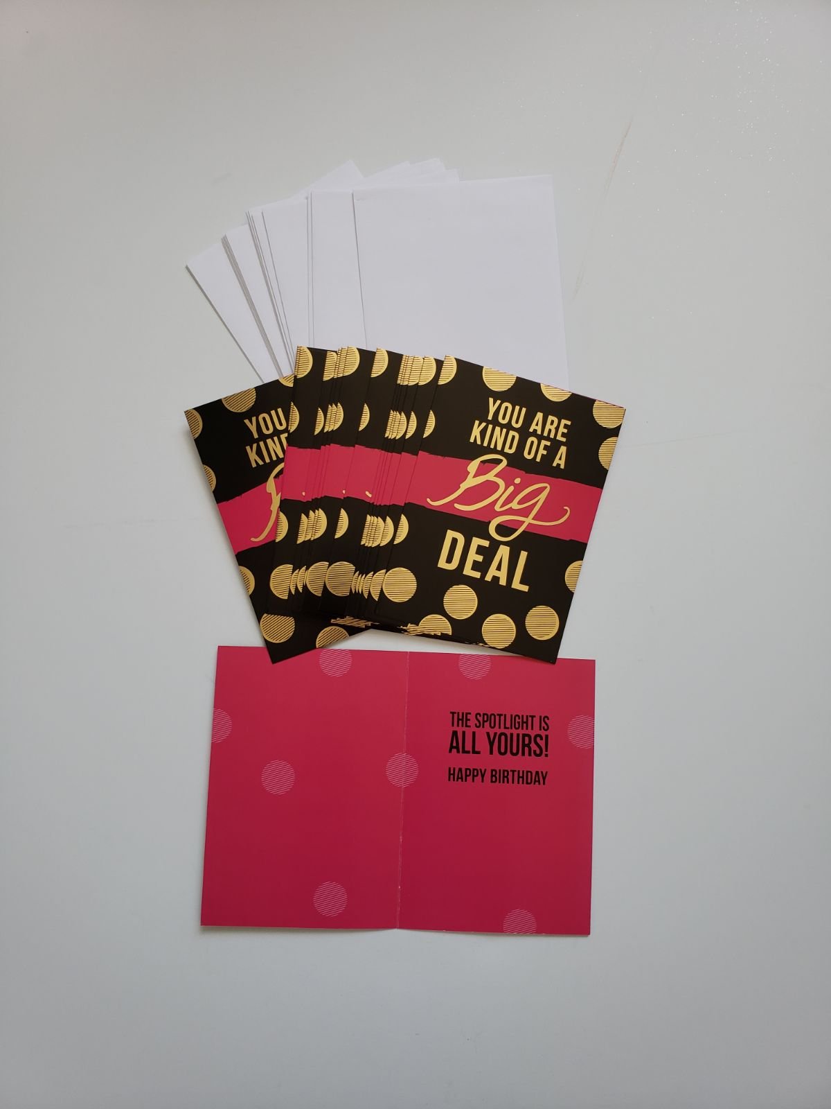15 birthday cards and envelopes