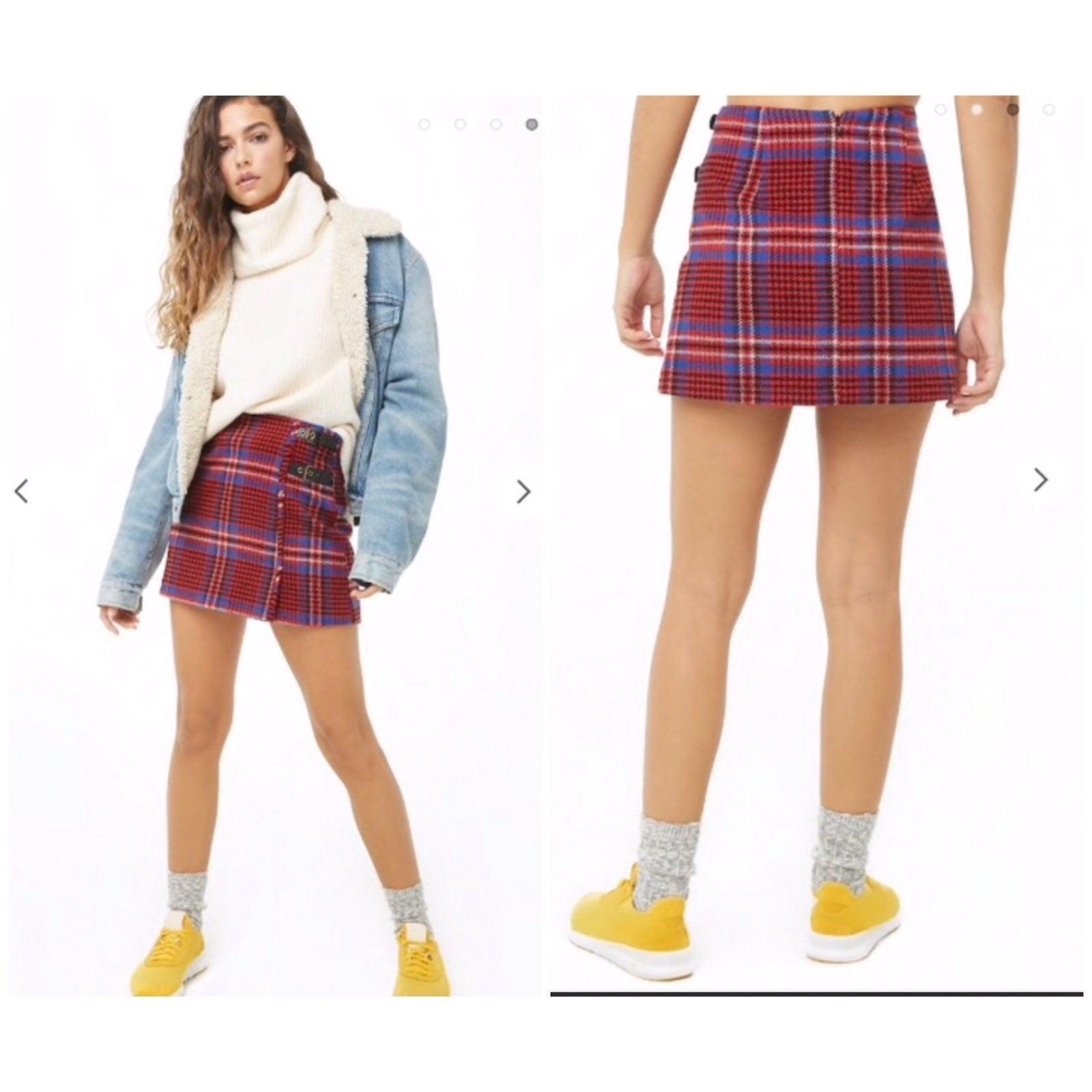 NWT Forever 21 Glen Plaid Skirt Medium