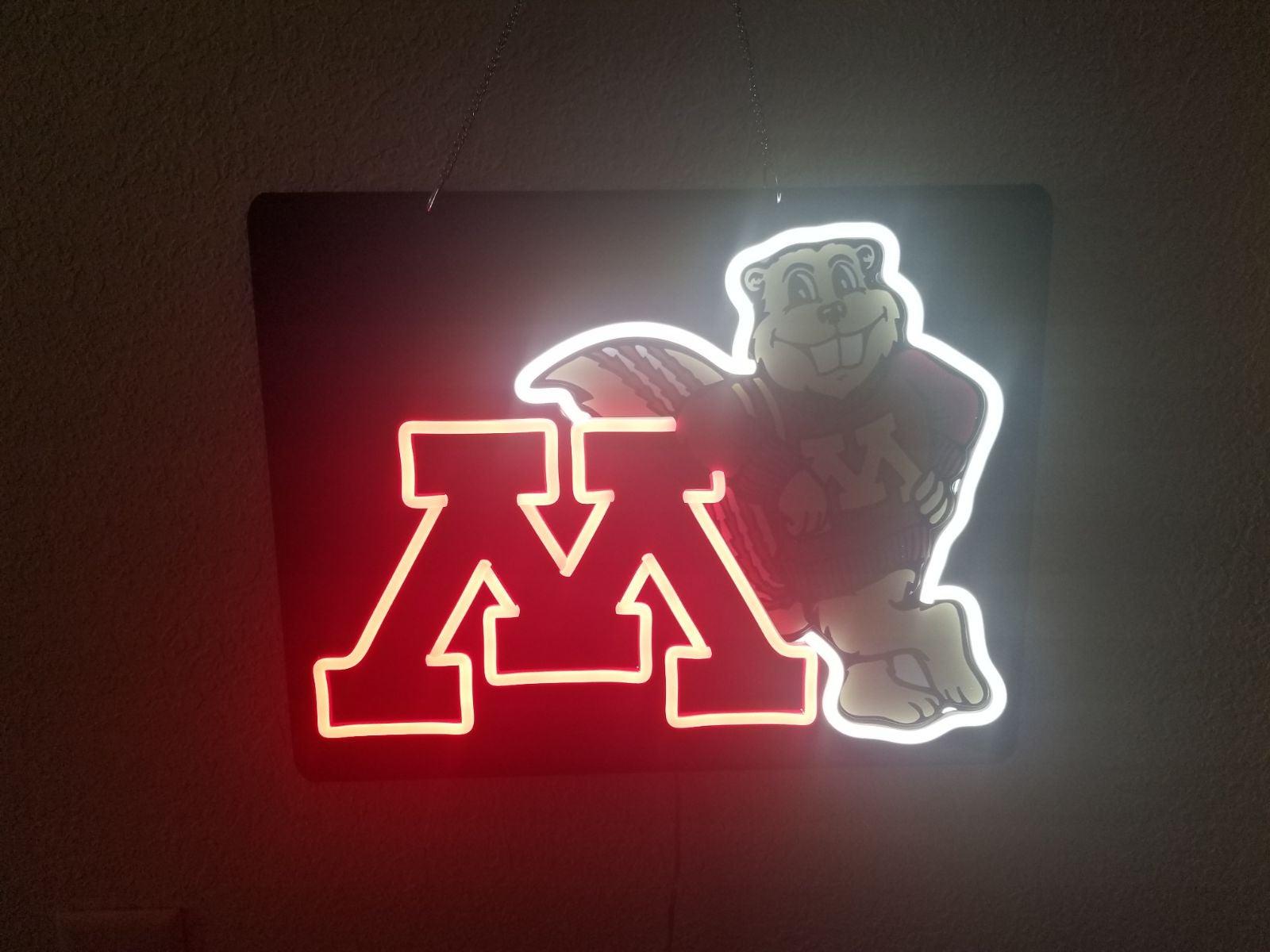 Neon Light - Minnesota Golden Gopher