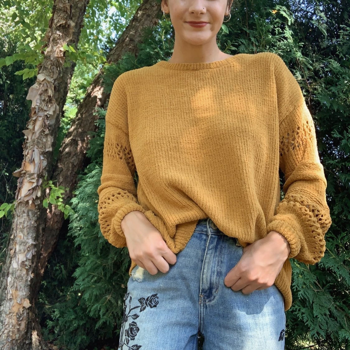 Cozy Knox Rose Mustard Sweater