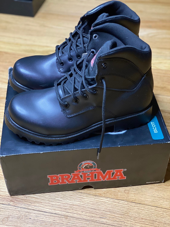 Brahma Black Boots Men Size 7.5